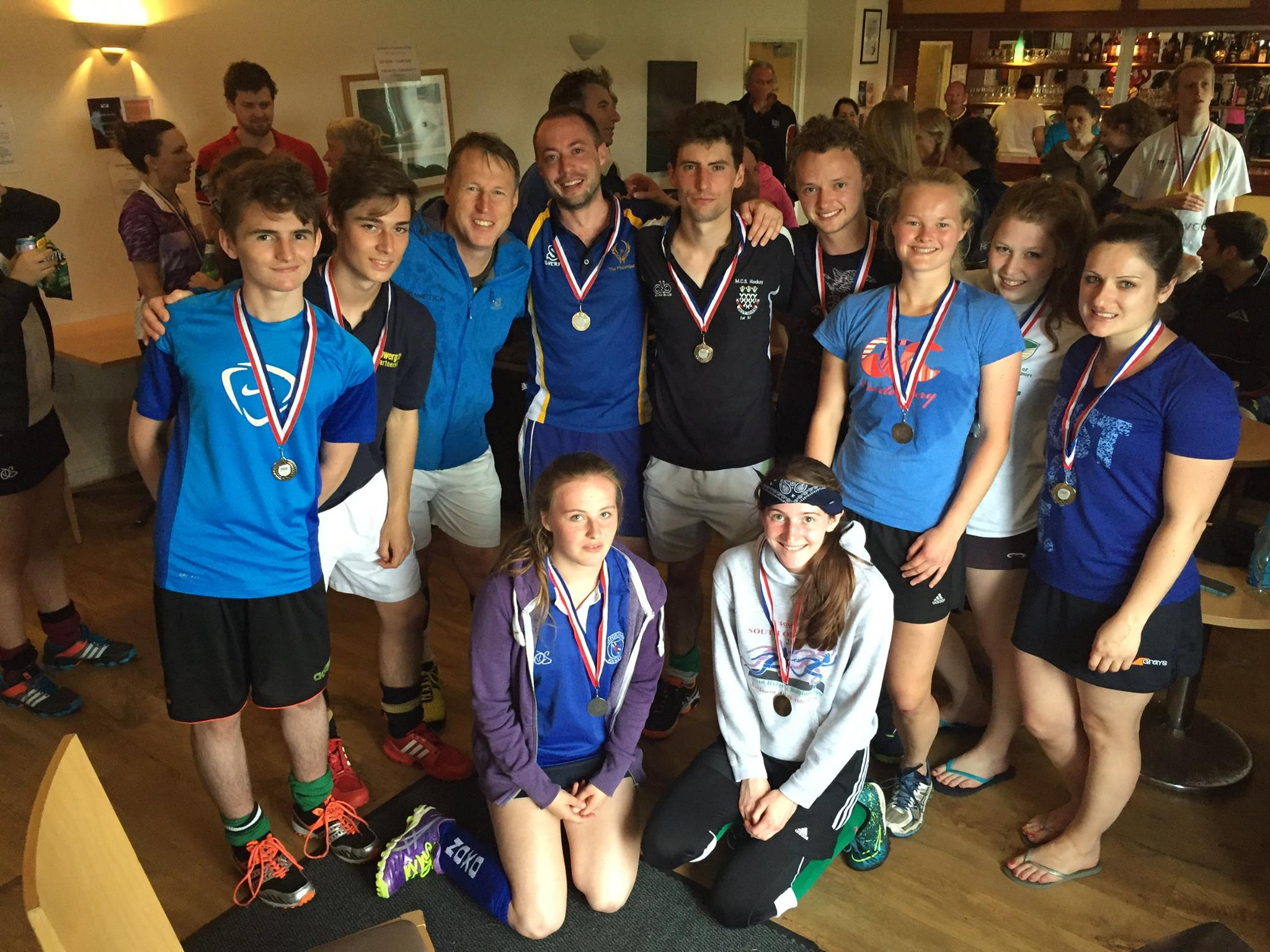 Mixed team at the Oxford Mixed Tournament